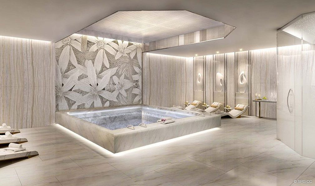 Luxurious Spa Wet Area at The Residences at Mandarin Oriental, Luxury Condos in Boca Raton, Florida