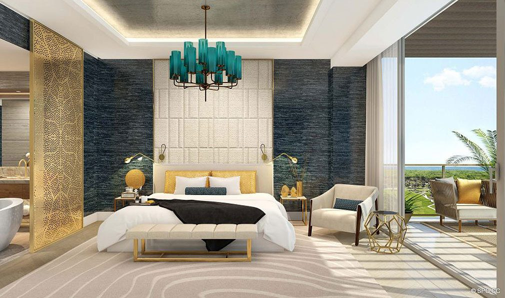 Master Suite with Large Terrace at The Residences at Mandarin Oriental, Luxury Condos in Boca Raton, Florida