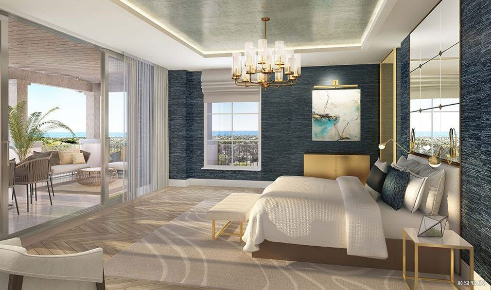 Master Bedroom in The Residences at Mandarin Oriental, Luxury Condos in Boca Raton, Florida