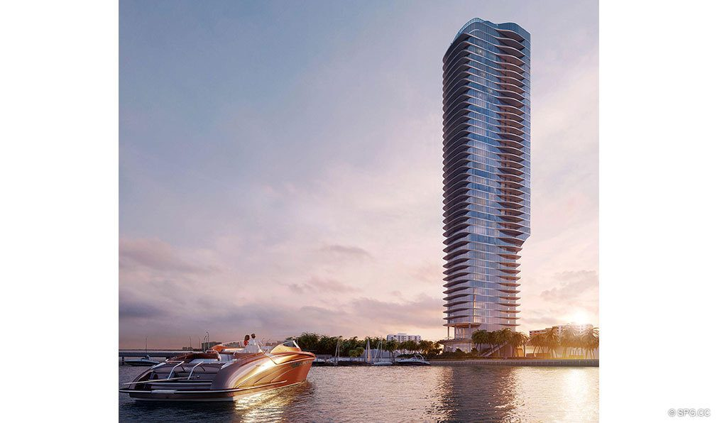 Water View of Una Residences, Luxury Waterfront Condos in Miami, Florida, Florida 33129