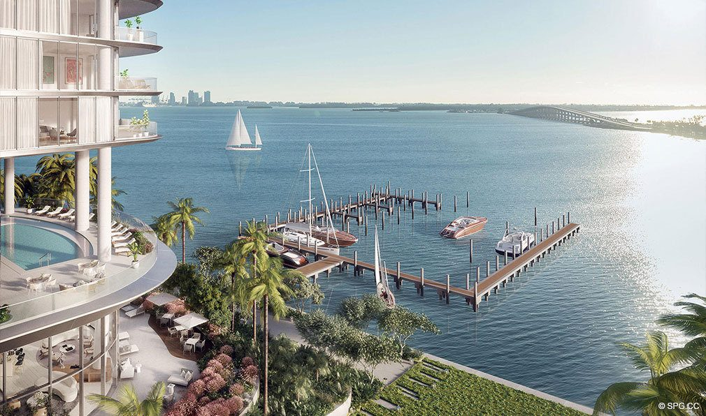 Private Boat Dock at Una Residences, Luxury Waterfront Condos in Miami, Florida, Florida 33129