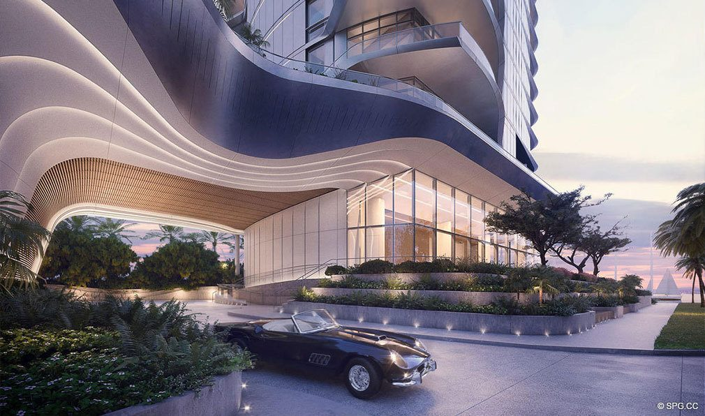 Port Cochere at Una Residences, Luxury Waterfront Condos in Miami, Florida, Florida 33129