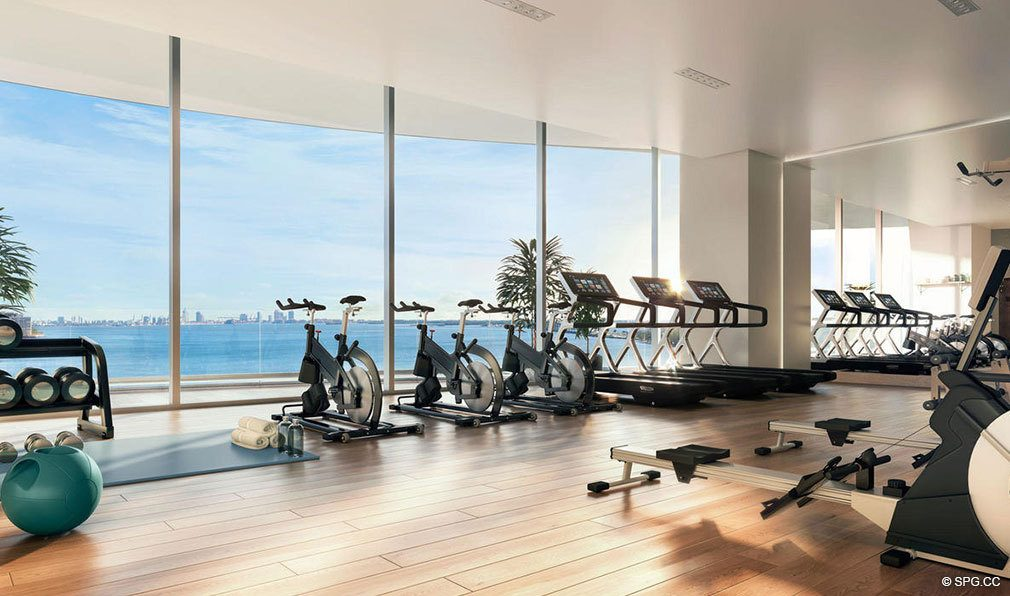 Fitness Center at Una Residences, Luxury Waterfront Condos in Miami, Florida, Florida 33129