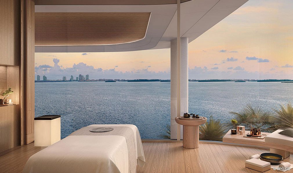 Spa Terrace at Una Residences, Luxury Waterfront Condos in Miami, Florida, Florida 33129