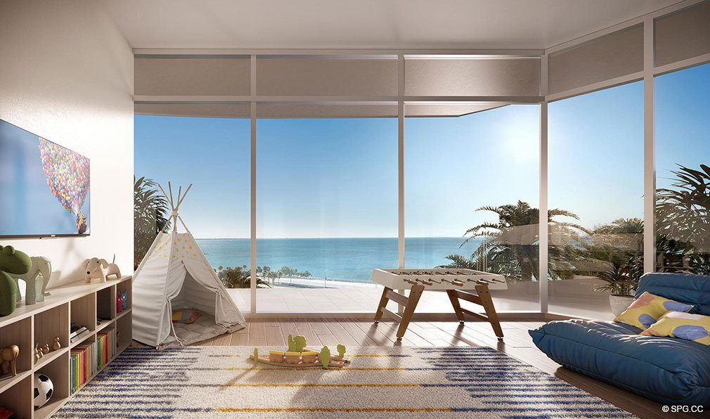 Kids Room at Una Residences, Luxury Waterfront Condos in Miami, Florida, Florida 33129