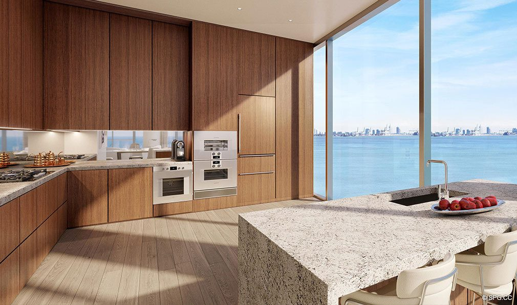 Residence Gourmet Kitchens in Una Residences, Luxury Waterfront Condos in Miami, Florida, Florida 33129