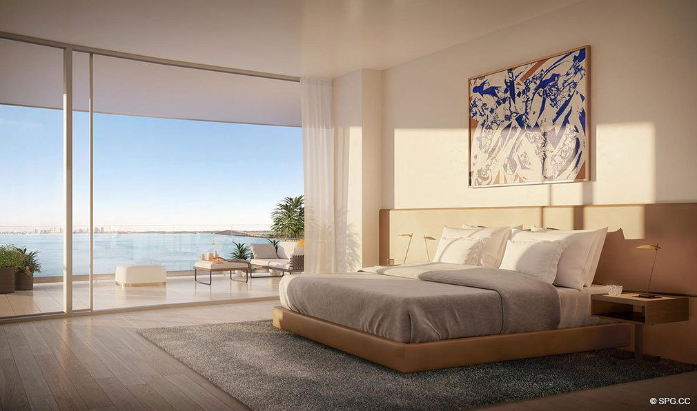 Residence Master Suite inside Una Residences, Luxury Waterfront Condos in Miami, Florida, Florida 33129