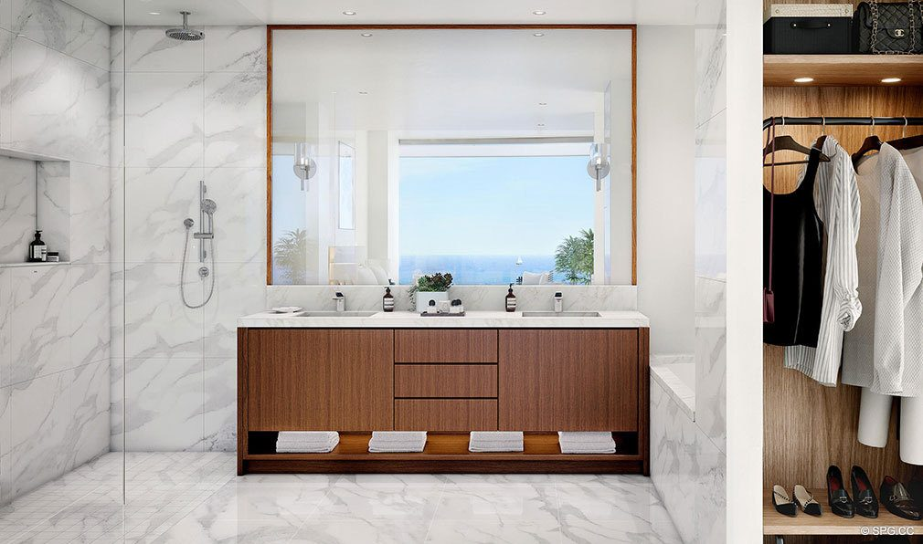 Residence Bathroom in Una Residences, Luxury Waterfront Condos in Miami, Florida, Florida 33129