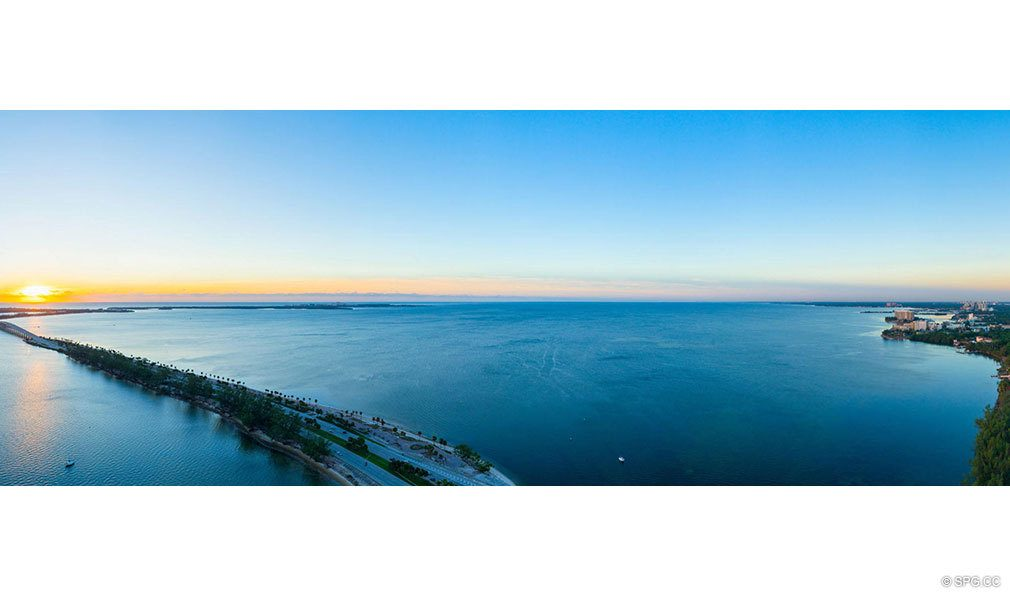 Panoramic Southern Views from Una Residences, Luxury Waterfront Condos in Miami, Florida, Florida 33129