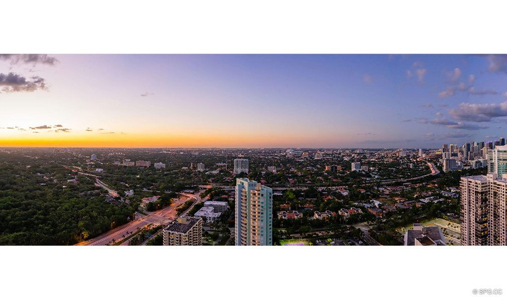 Western Panoramic Views from Una Residences, Luxury Waterfront Condos in Miami, Florida, Florida 33129