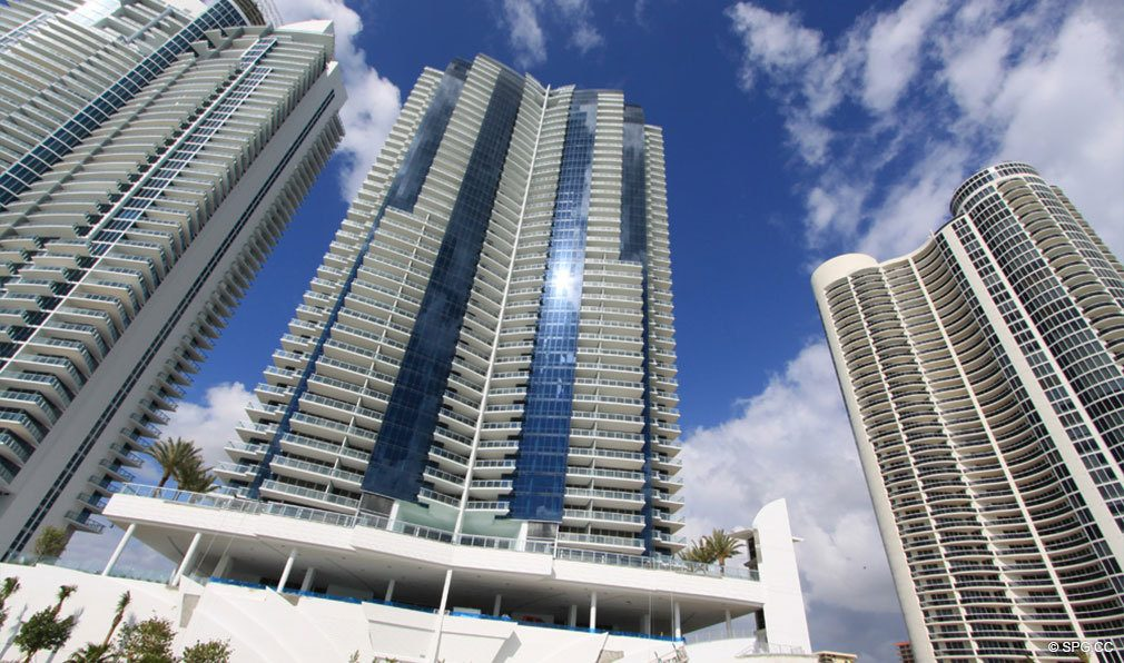 Ground View of Jade Ocean, Luxury Oceanfront Condos, Sunny Isles Beach, Florida 33160