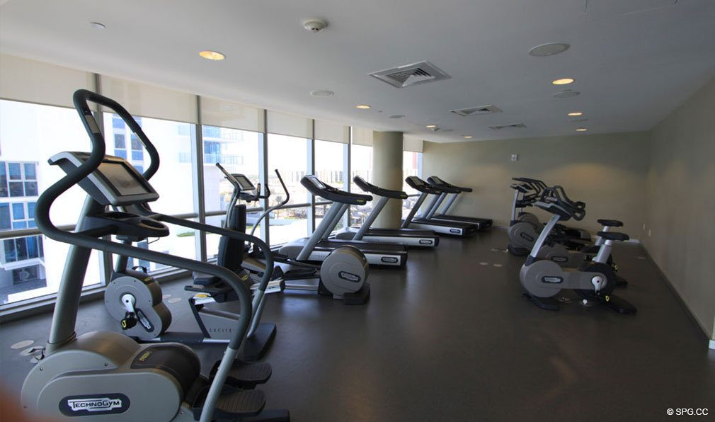 Fitness Center at Jade Ocean, Luxury Oceanfront Condos, Sunny Isles Beach, Florida 33160