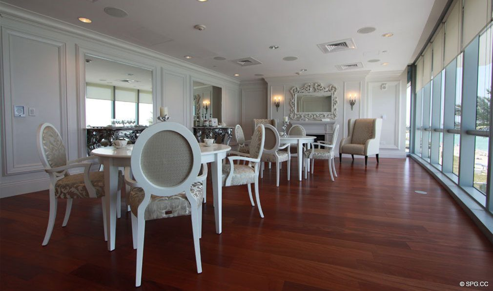 Club Room at Jade Ocean, Luxury Oceanfront Condos, Sunny Isles Beach, Florida 33160