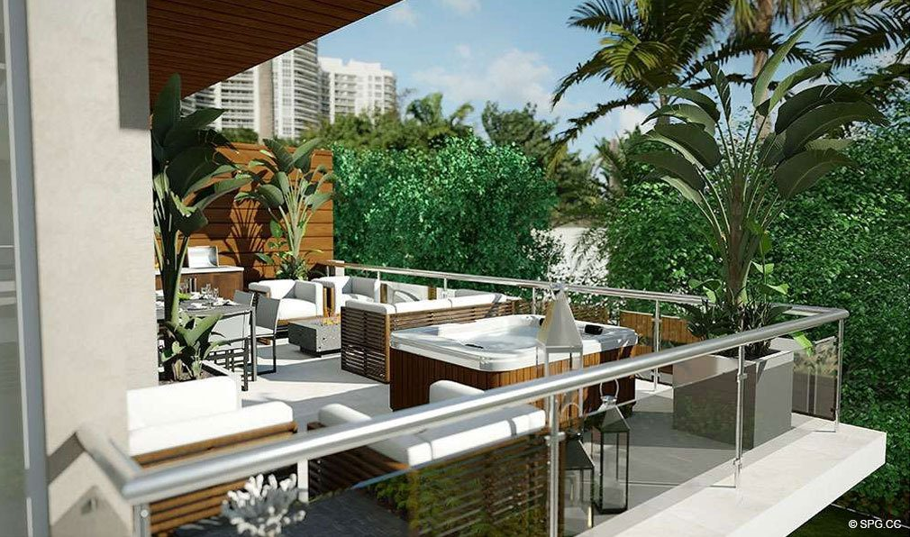 Oversized Terraces at 30 Thirty North Ocean, Luxury Seaside Condos in Fort Lauderdale, Florida, 33308.
