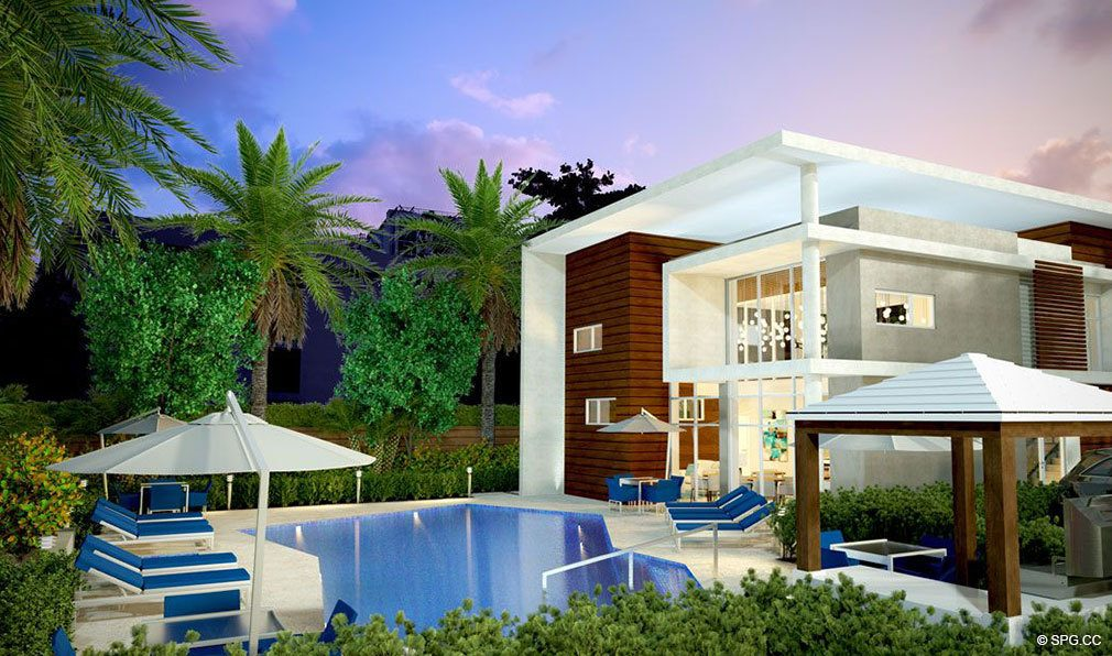 Pool and Clubhouse at 30 Thirty North Ocean, Luxury Seaside Condos in Fort Lauderdale, Florida, 33308.