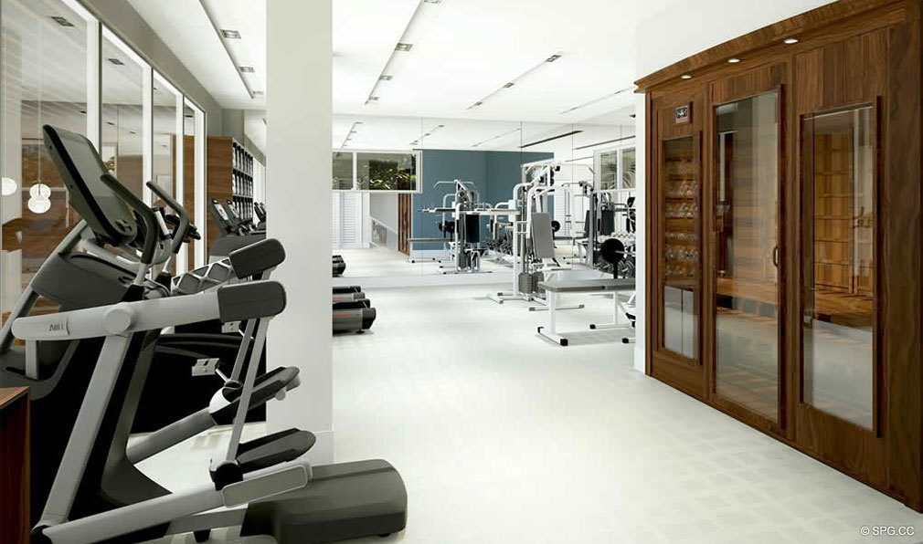 Clubhouse Gym inside 30 Thirty North Ocean, Luxury Seaside Condos in Fort Lauderdale, Florida, 33308.
