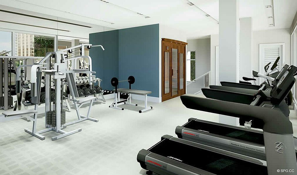 Fitness Center at 30 Thirty North Ocean, Luxury Seaside Condos in Fort Lauderdale, Florida, 33308.