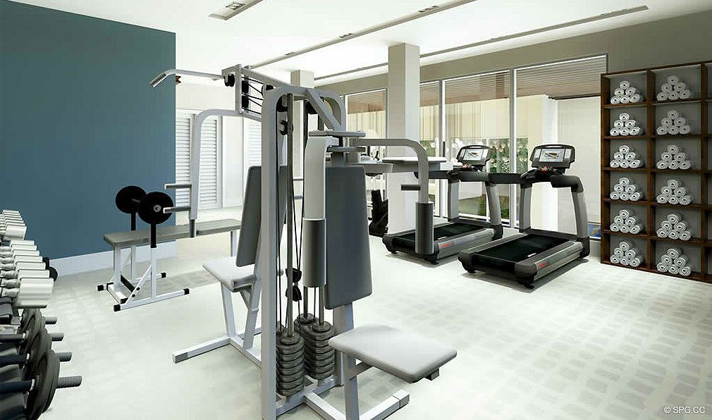 Clubhouse Fitness Center at 30 Thirty North Ocean, Luxury Seaside Condos in Fort Lauderdale, Florida, 33308.