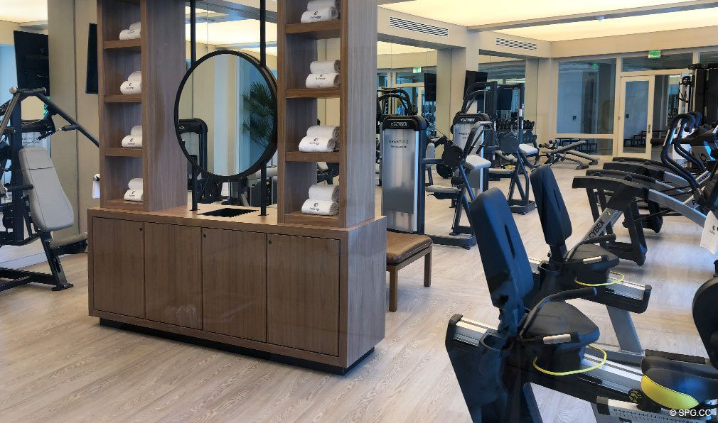 Fitness Center for Auberge Beach Residences, Luxury Oceanfront Condos in Ft Lauderdale