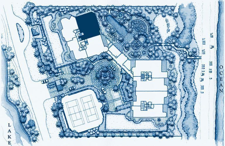 Siteplan for Residence 204 at Bellaria, Luxury Oceanfront Condominiums in Palm Beach, Florida 33480.