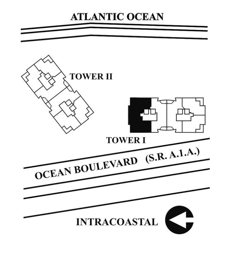 Siteplan for Residence 18B, Tower I at The Palms, Luxury Oceanfront Condominiums Fort Lauderdale, Florida 33305