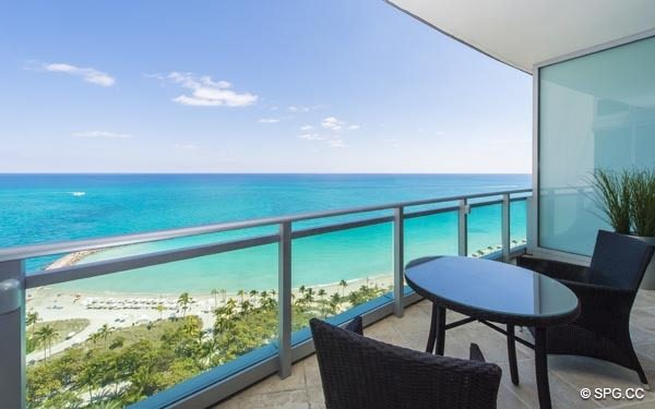 Unobstructed Ocean Views from Residence 1703 at One Bal Harbour, Luxury Oceanfront Condominiums in Miami, Florida 33154
