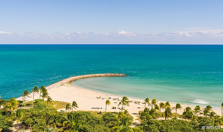 View of Inlet from Residence 902 For Rent at One Bal Harbour, Luxury Oceanfront Condos in Bal Harbour, Miami, Florida 33154.