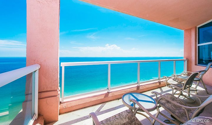 Oceanfront Terrace for Residence 18B, Tower I at The Palms, Luxury Oceanfront Condominiums Fort Lauderdale, Florida 33305