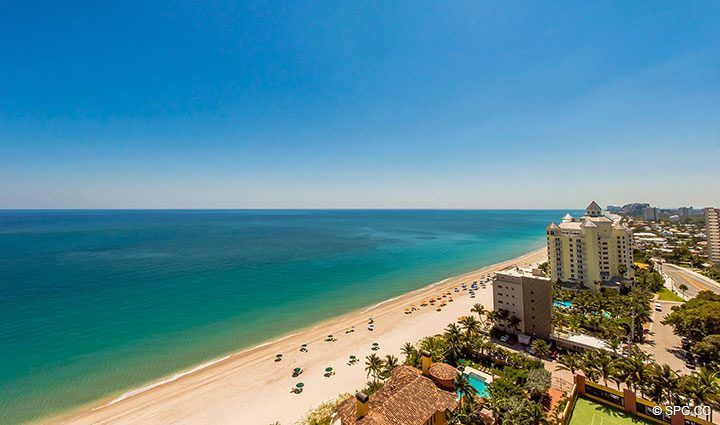 Ocean Views from Residence 19A/D, Tower II at The Palms, Luxury Oceanfront Condominiums Fort Lauderdale, Florida 33305
