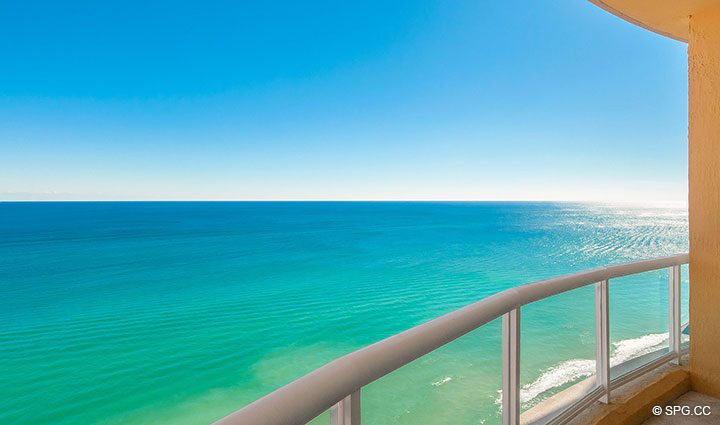 Ocean View at Penthouse Residence 26A, Tower I at The Palms, Luxury Oceanfront Condos in Fort Lauderdale, Florida 33305.