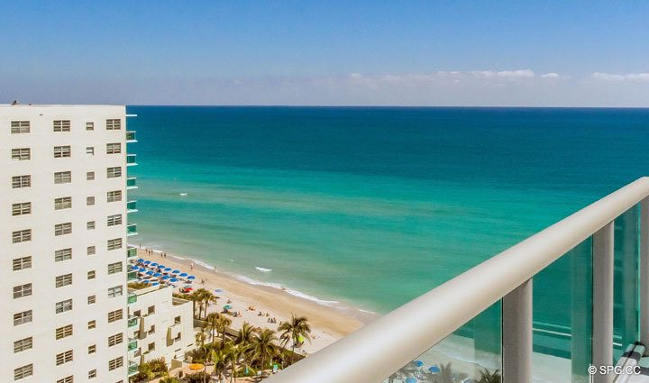 View from Penthouse 10 at Sian Ocean Residences, Luxury Oceanfront Condominiums Hollywood Beach, Florida 33019