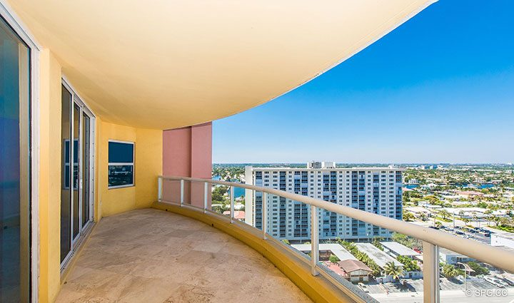 Intracoastal Terrace for Residence 19A/D, Tower II at The Palms, Luxury Oceanfront Condominiums Fort Lauderdale, Florida 33305
