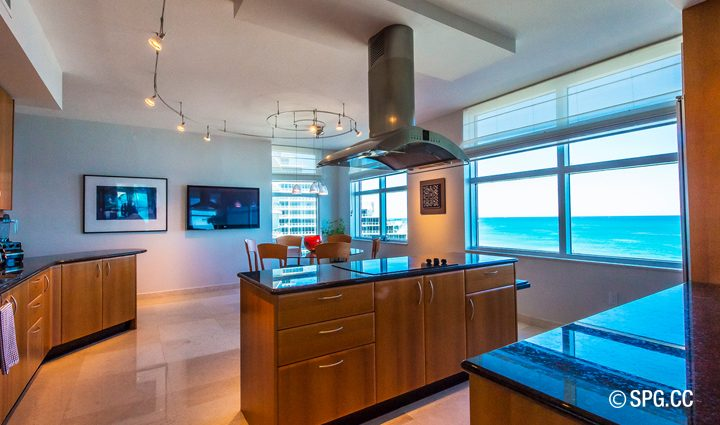 Kitchen inside Residence 9B Tower 2 For Sale at The Palms, Luxury Oceanfront Condominiums Fort Lauderdale, Florida 33305