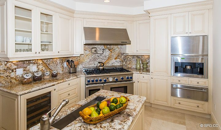 State of the Art Appliances in Residence 204 at Bellaria, Luxury Oceanfront Condominiums in Palm Beach, Florida 33480.