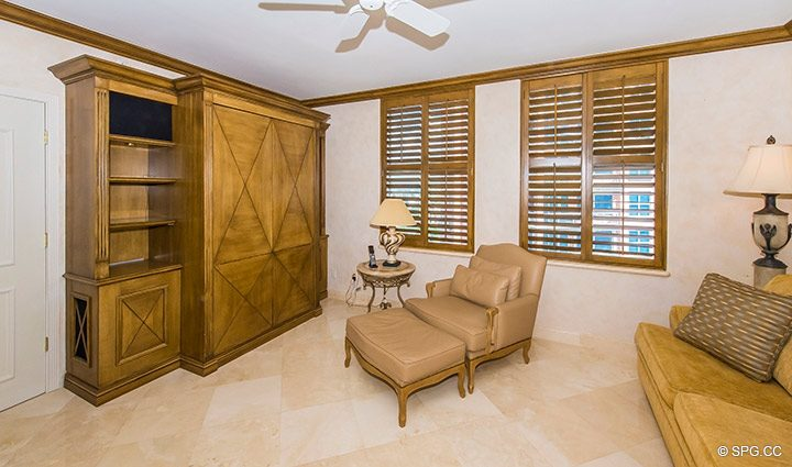 Den or 3rd Bedroom in Residence 18B, Tower I at The Palms, Luxury Oceanfront Condominiums Fort Lauderdale, Florida 33305