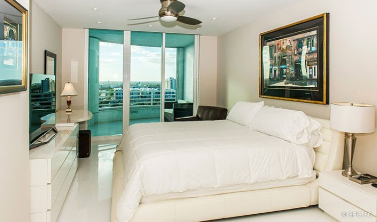 Guest Bedroom inside Residence 18D at Cristelle, Luxury Oceanfront Condominiums in Lauderdale by the Sea, Florida 33062.