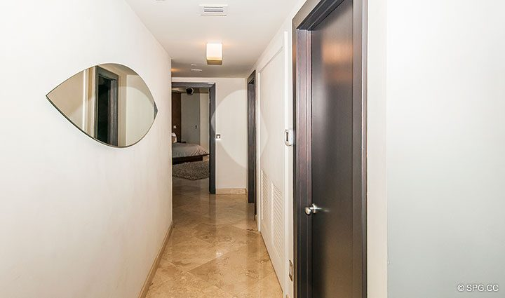 Hall Leading to Bedroom in Residence 11B, Tower I at The Palms, Luxury Oceanfront Condominiums Fort Lauderdale, Florida 33305