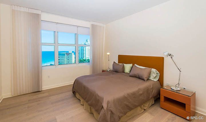 Bedroom inside Residence 10D, Tower II at The Palms, Luxury Oceanfront Condominiums Fort Lauderdale, Florida 33305