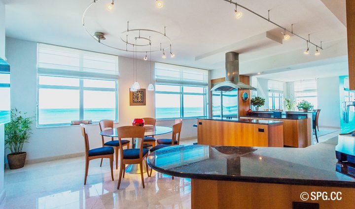 Breakfast inside Residence 9B Tower 2 For Sale at The Palms, Luxury Oceanfront Condominiums Fort Lauderdale, Florida 33305