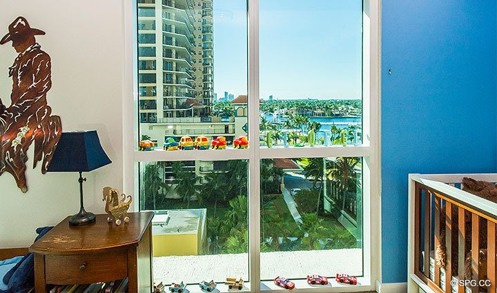 Guest Room inside Residence 803 at Las Olas Beach Club, Luxury Oceanfront Condos in Fort Lauderdale, Florida 33316.