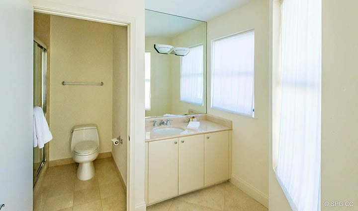 Bathroom in Residence 10D, Tower II at The Palms, Luxury Oceanfront Condominiums Fort Lauderdale, Florida 33305