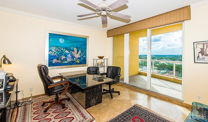 Office or Third Bedroom inside Residence 12A, Tower I at The Palms, Luxury Oceanfront Condominiums Fort Lauderdale, Florida 33305