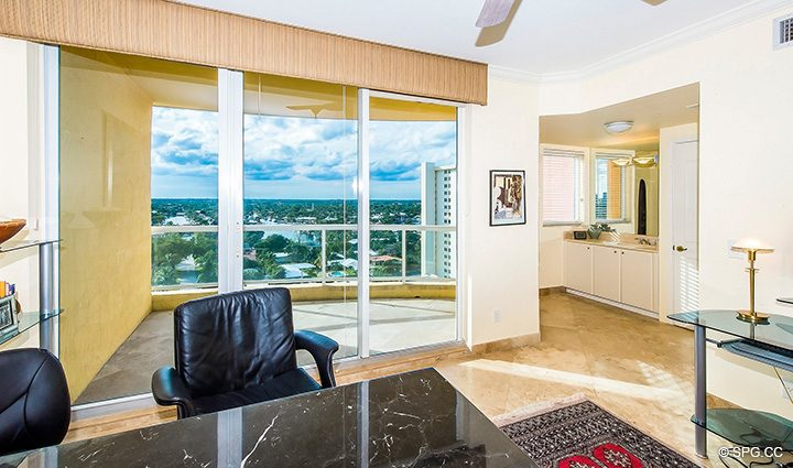 Intracoastal Terrace Access in Residence 12A, Tower I at The Palms, Luxury Oceanfront Condominiums Fort Lauderdale, Florida 33305