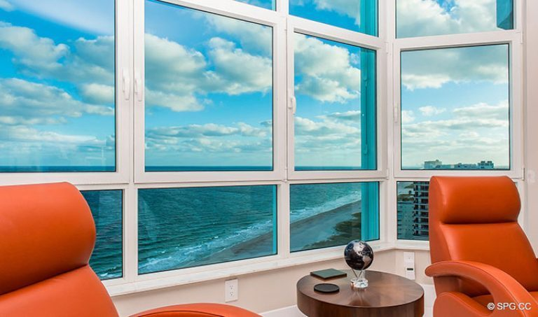 Superb Master Suite Views in Residence 18D at Cristelle, Luxury Oceanfront Condominiums in Lauderdale by the Sea, Florida 33062.