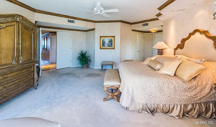 Master Suite in Residence 18B, Tower I at The Palms, Luxury Oceanfront Condominiums Fort Lauderdale, Florida 33305