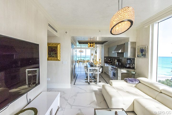Den inside Residence 1106 at Acqualina, Luxury Oceanfront Condominiums in Sunny Isles Beach, Florida 33160