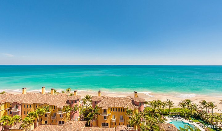 Direct Ocean Views from Residence 12B, Tower I at The Palms, Luxury Oceanfront Condominiums Fort Lauderdale, Florida 33305