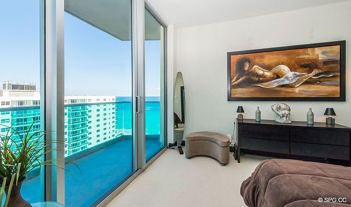 Master Bed Terrace in Penthouse 10 at Sian Ocean Residences, Luxury Oceanfront Condominiums Hollywood Beach, Florida 33019