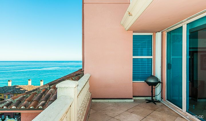 Second Terrace Area for Residence 11B, Tower I at The Palms, Luxury Oceanfront Condominiums Fort Lauderdale, Florida 33305