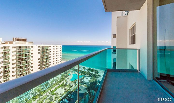 Private Terrace for Penthouse 10 at Sian Ocean Residences, Luxury Oceanfront Condominiums Hollywood Beach, Florida 33019